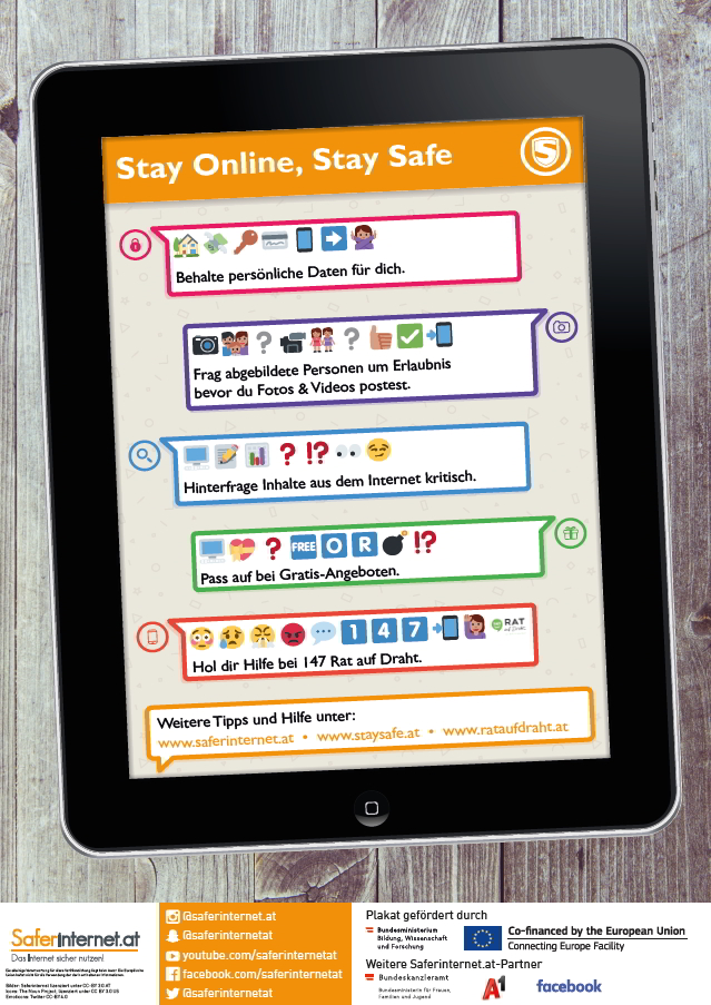 Stay online, stay safe - Plakat